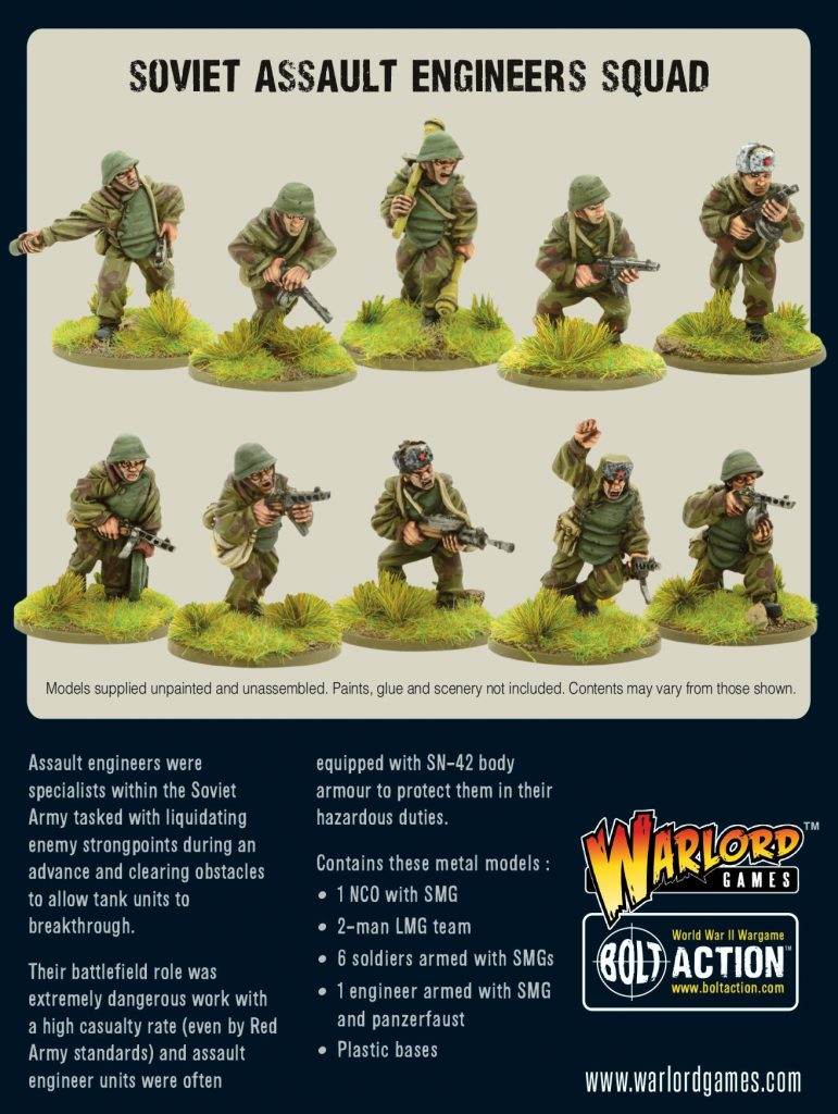 Soviet Assault Engineers Squad - Warlord Games