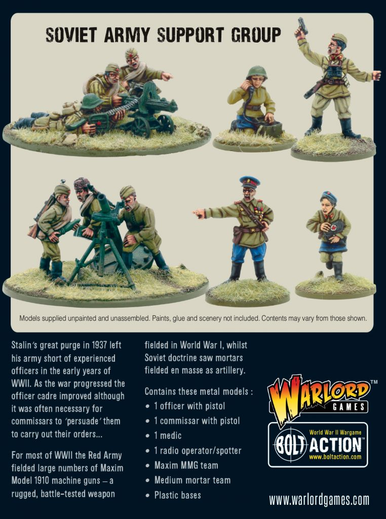 Soviety Army Support Group - Warlord Games
