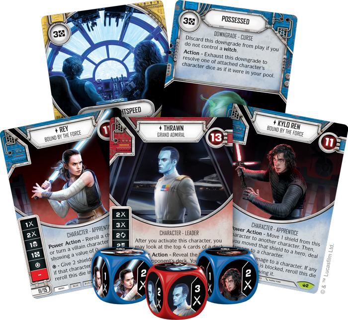 Star Wars Destiny Spark Of Hope Card Fan - FFG