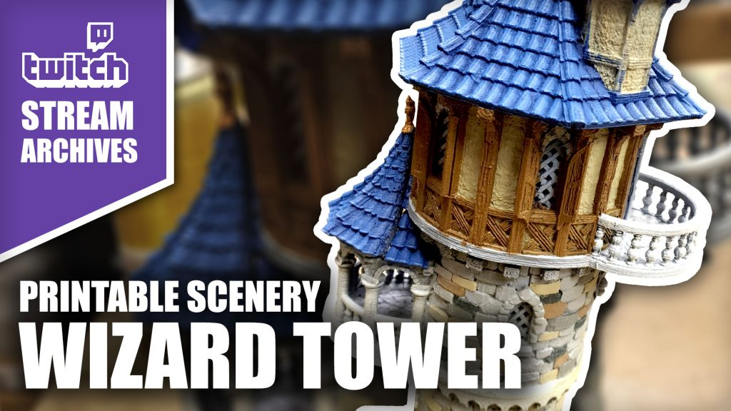Stream Archives: Printable Scenery - Wizard Tower