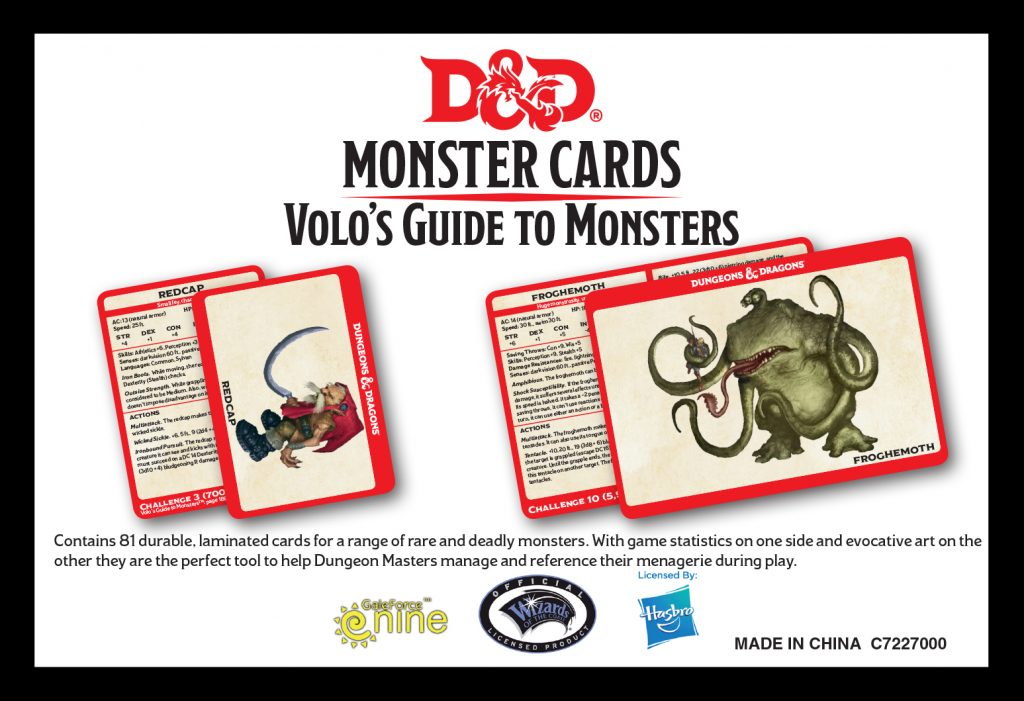 Volo's Guide To Monsters Card Preview - Gale Force Nine