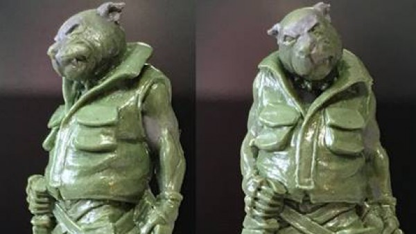 Don't Mess With Hasslefree Miniatures' Two-Knife Dog-Boy