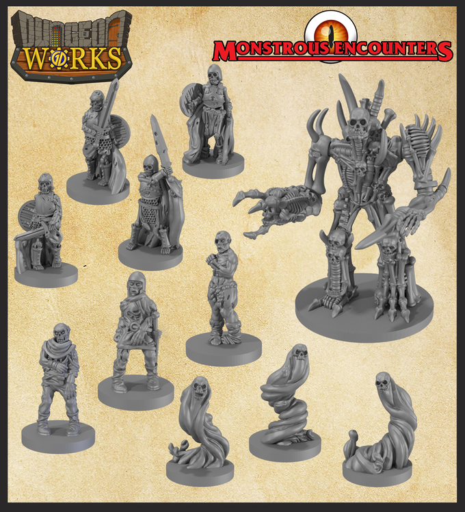 photo regarding Free 3d Printable Miniatures named Unleash The Undead With A Fuss-Cost-free 3D Print Upon Kickstarter