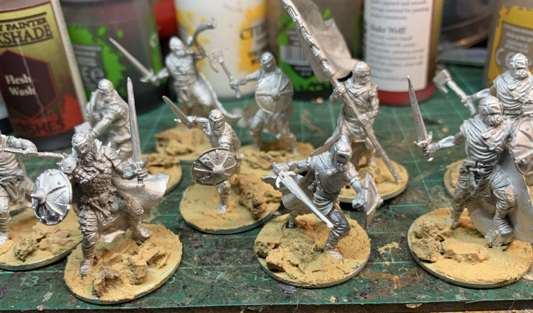 Built and based. Scale wise they fit quite well with the Red Box Njorn, both are on the small end of 28mm ranges.