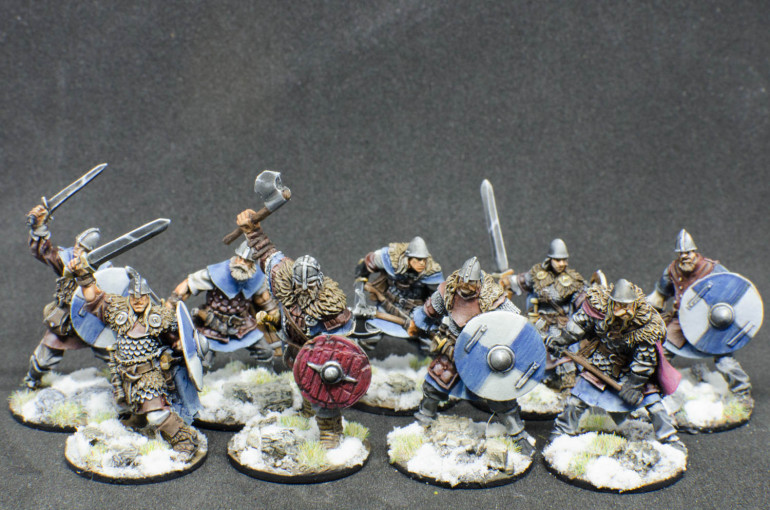 """First set of Red Box """"Njorn"""", with the exception of the axe wielding dude in front which is Mythic Battles: Ragnarok teaser mini from the Pantheon Kickstarted. It fit's quite nicely wit these."""