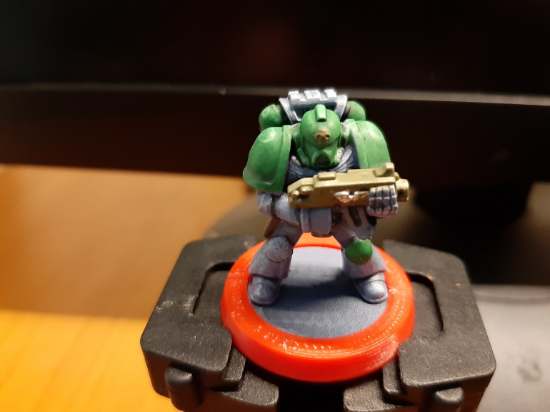 A quick photograph of the test marine.
