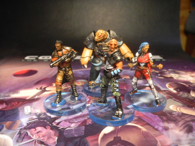 Crew of the Cygnus: painted loosely based on Core space artwork.