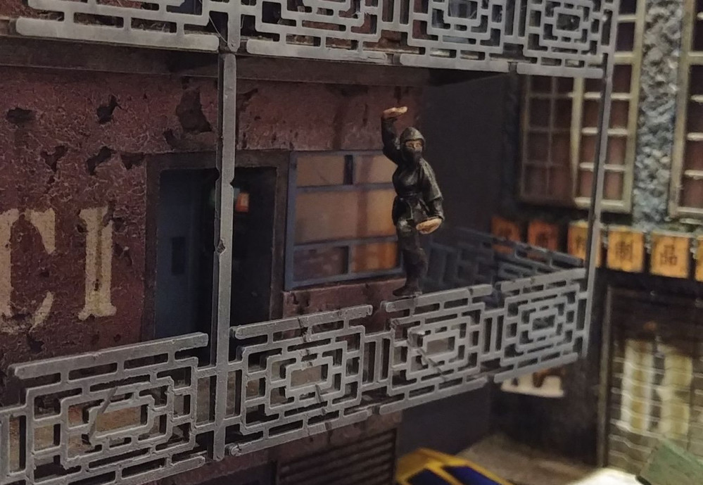 Cyberpunk Diorama - Spring Cleaning Hobby Challenge. Completed