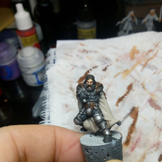 Getting there as I put some paint down on the next mini