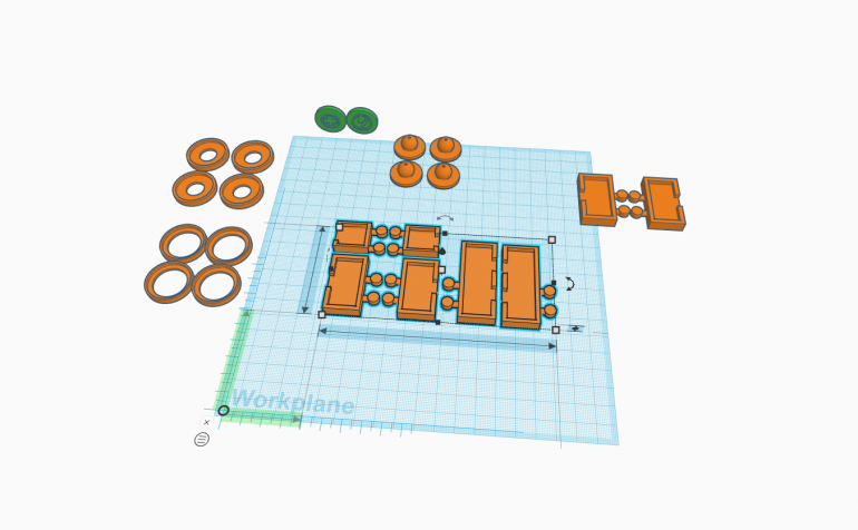 TinkerCAD  is a free software that come with Google Chrome. I made these game components very quickly using basic shape provide in TinkerCAD.