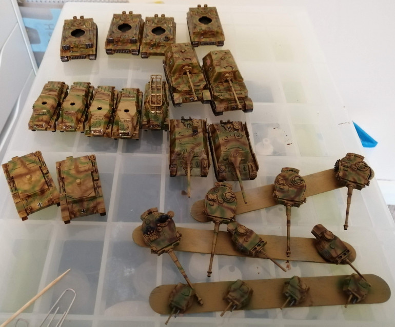 Batch Painting a Load of German Stuff