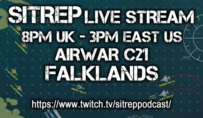 Sitrep Twitch Live Steam, 8PM UK Time