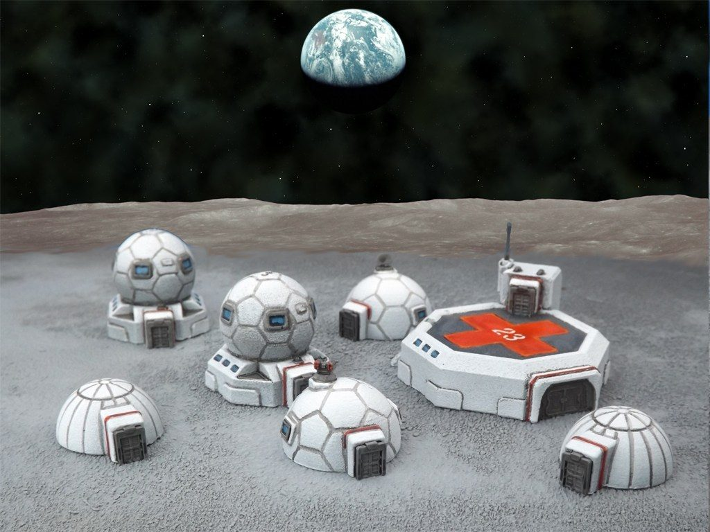 6mm Moon Base Terrain - Brigade Models
