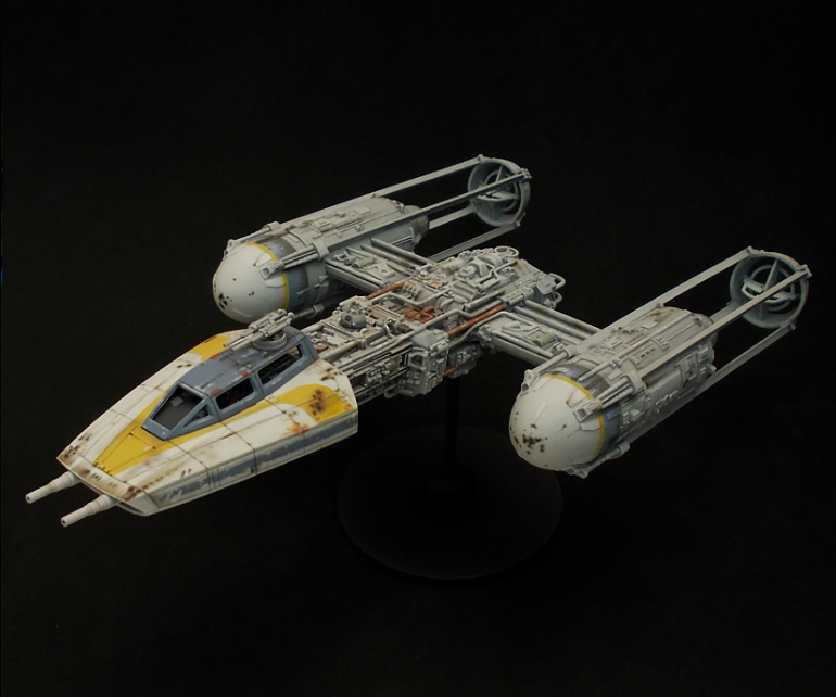 Gold Leader Y-wing model in 1/72 scale from Bandai