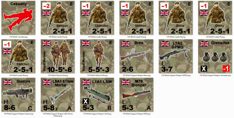 We're underway with a complete Valor & Victory force for Royal Marines in 1982 Falklands.  I know I want to build at least another force for Paras, and then of course Argentine infantry that opposed them.  Other options might eventually include Scots Guards, Welsh Guards, Gurkhas, depending on community support.  I hope to stream a demo game UK vs. Argentinian infantry battles in Valor & Victory of this sometime on Sunday, May 26 - again, depending on community interest.  Stay tuned.