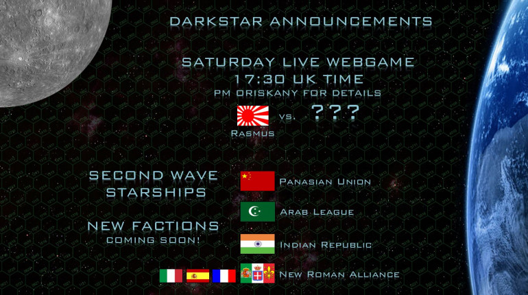 Update on Wave 2 Starships - Live Game Today at 17:30 UK Time