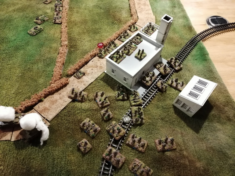 The Germans surround the Station, cutting off all hope of retreat