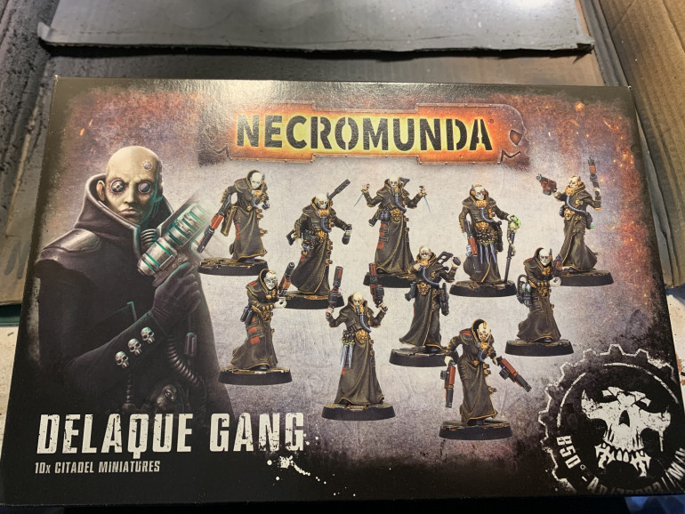 When I saw them I had to have them. The Delaque gang look right up my street. There's a cyberpunky feel to them which I hope to bring out in the paint job.