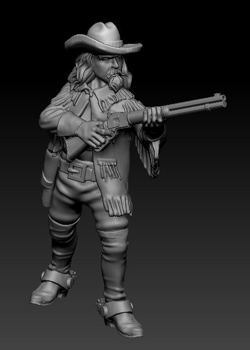 Buffalo Bill Cody #1 - Knuckleduster Miniatures