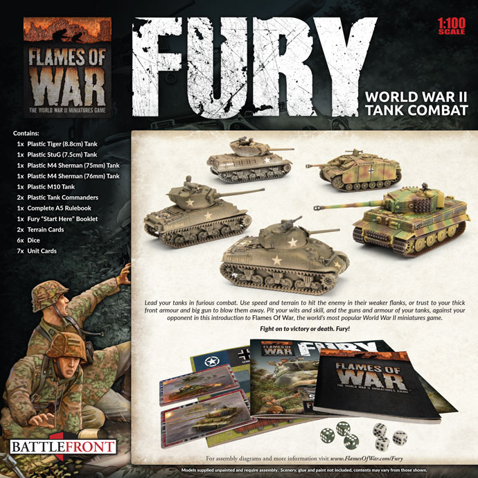 Fury Starter Set Back - Flames Of War