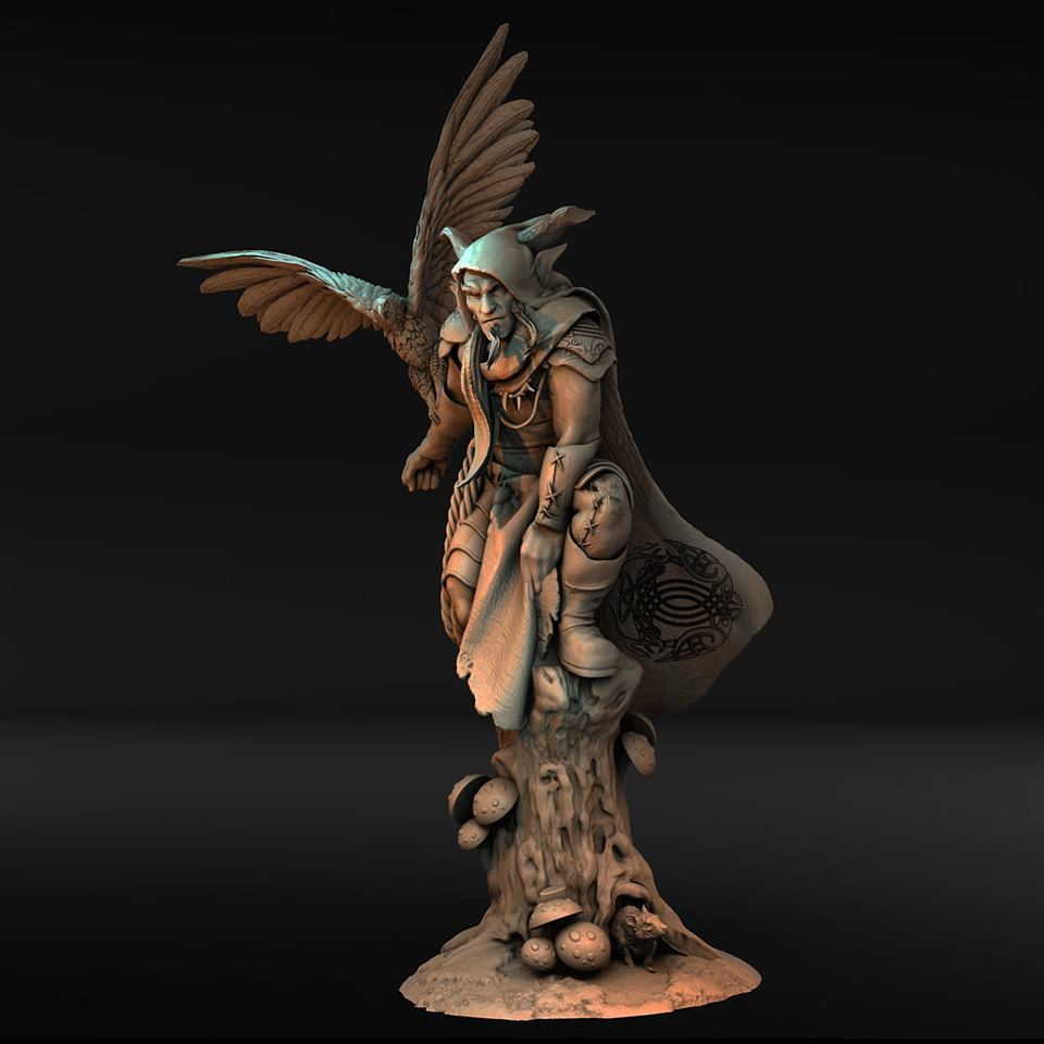 Wood Elf With Eagle - Atlantis Miniatures