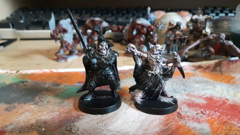 Work begins on a sorcerer and a black knight.