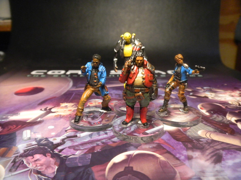 Crew of the Skylark: painted loosely based on Core space artwork.