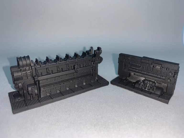 as a all in backer i recieved two types of motors - a diesel and a electric engine - so how to paint ?
