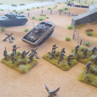 The Allies Move Up The Beach