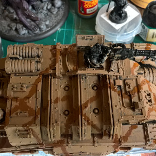 3rd Armoured Division Savlar Chem-Dogs – Tank A- Solar Auxilia Dracosan Armoured Transport – Painting Part 2