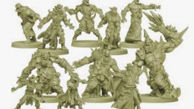 zombicide green horde with Contrast Paints