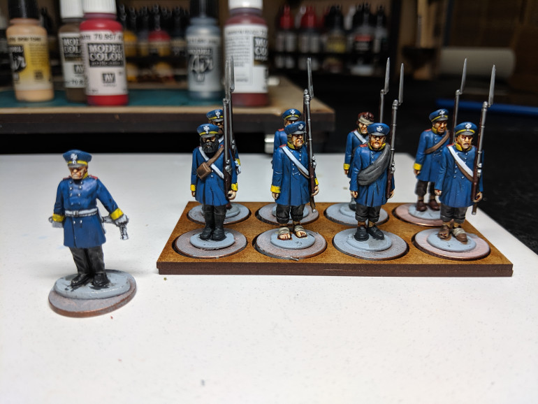 Last unit for the formation finished