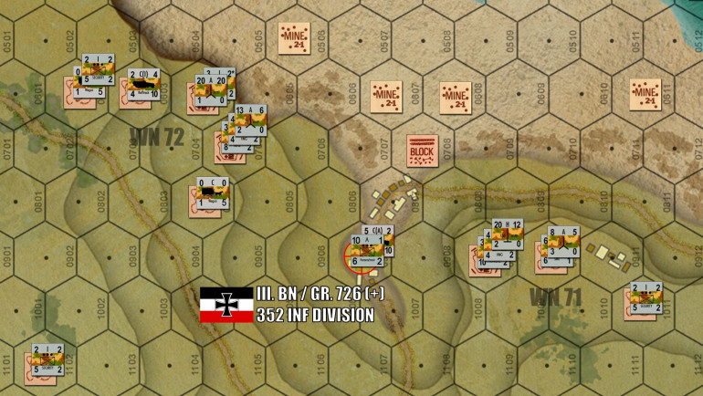 German defenses at the mouth of the Vierville draw.  Now 726th Rgt was originally a