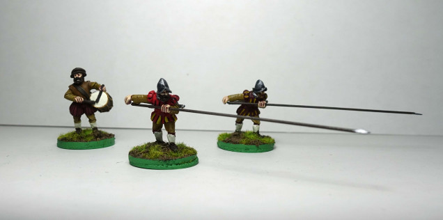 Spanish unarmoured pike and drummer
