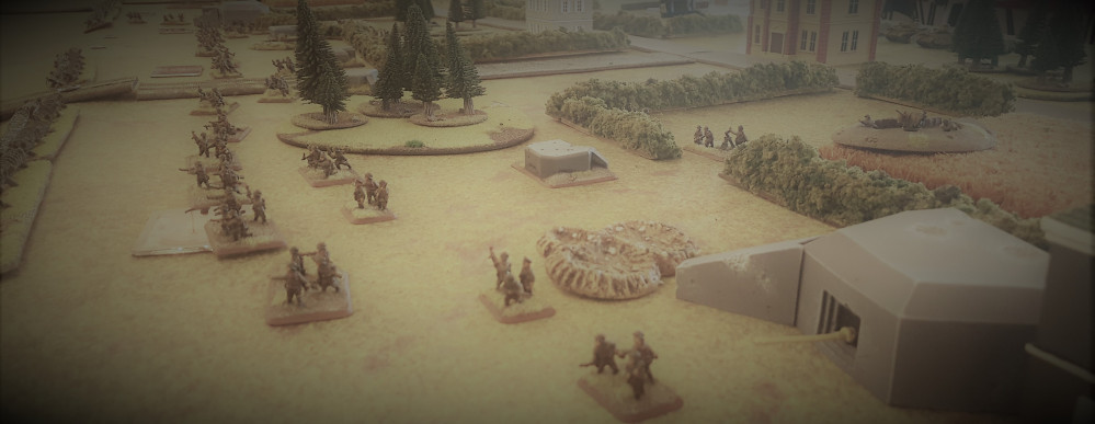 Germans Move Into Position