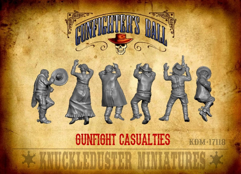 Gunfight Casualties - Knuckleduster Miniatures