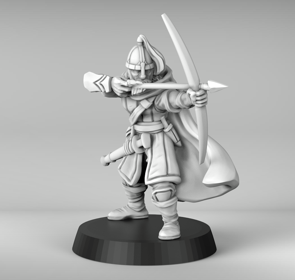 Lone Guard Commander With Bow - Metal King Studio