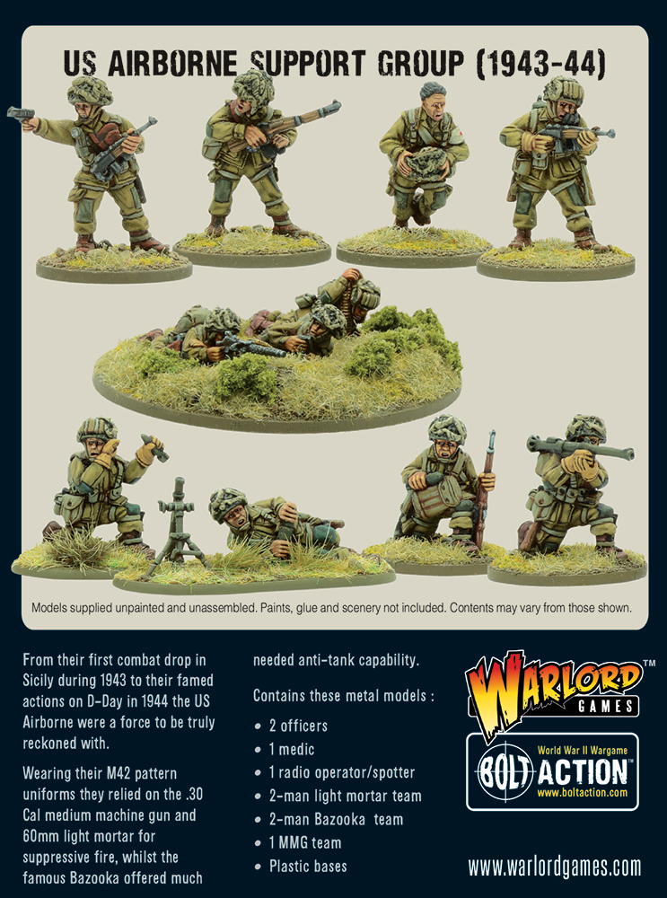 US Airborne Support Group - Bolt Action