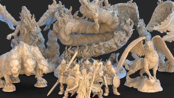 Create Mythical Menageries With Bestiary 3D Printable Models