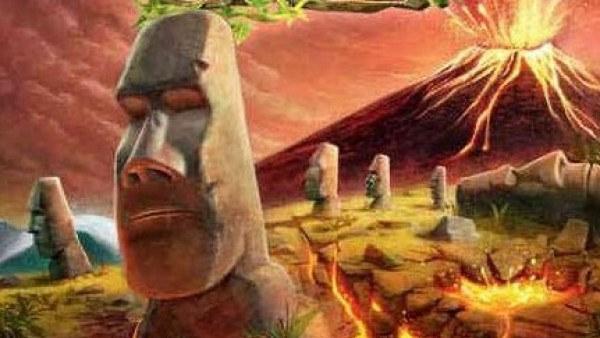 Raise Moai & Avoid Eruptions In Volcanic Isle From Pendragon