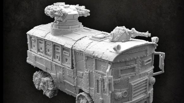 Puppets War Unveil New Orc Warbus Miniature