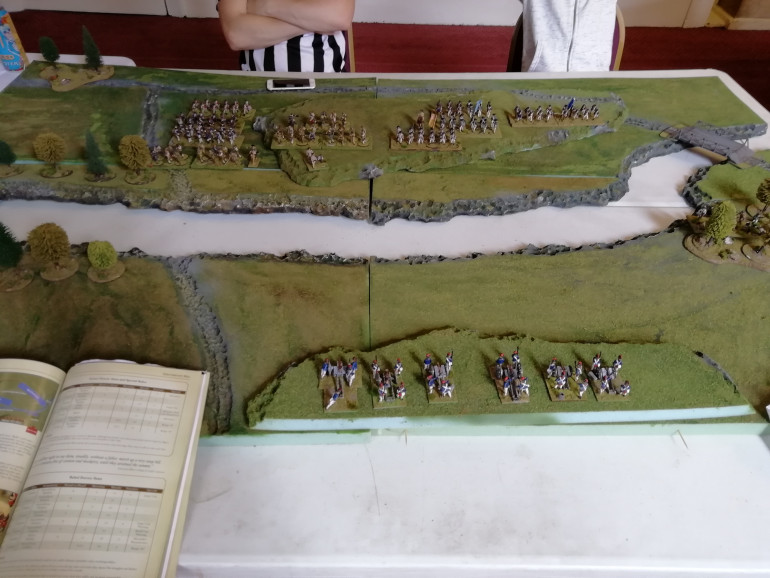 The Rebel forces position themselves to hold the hill