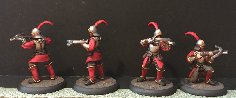 Crossbowmen, fearsome at range and hopeless in melee!