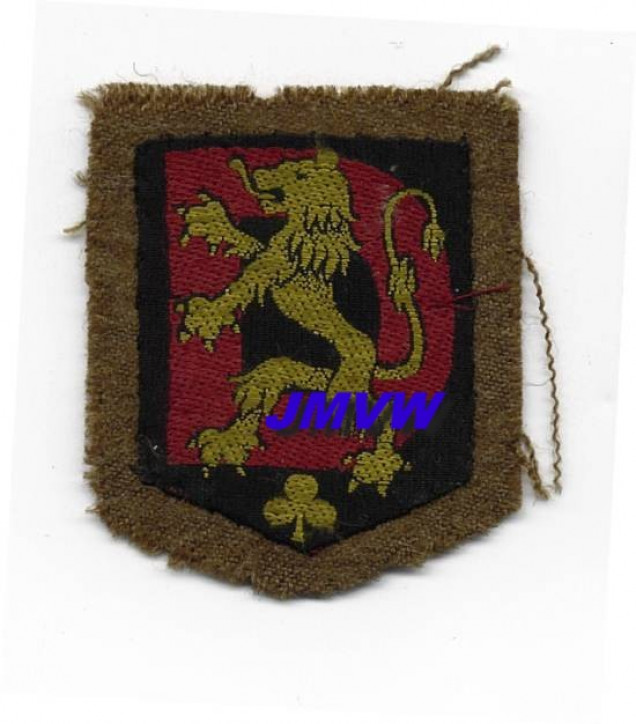 Notice the yellow shamrock on this 6th Brigade Badge - source http://www.be4046.eu/Deynse.htm