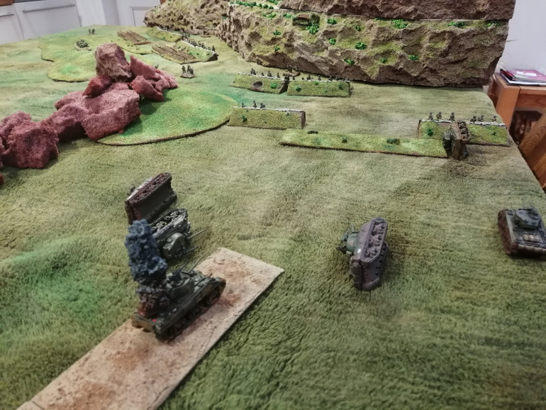 What's left of the tank assault