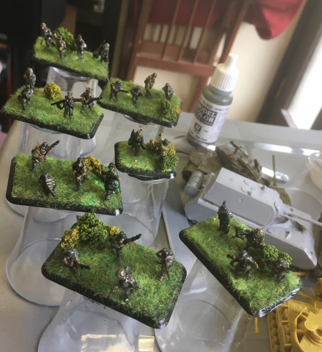 More grass where I missed bits and some Javis Clump Foliage added.
