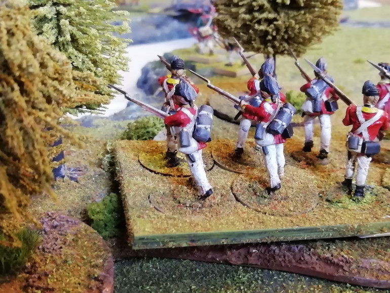 Light infantry clear the woods