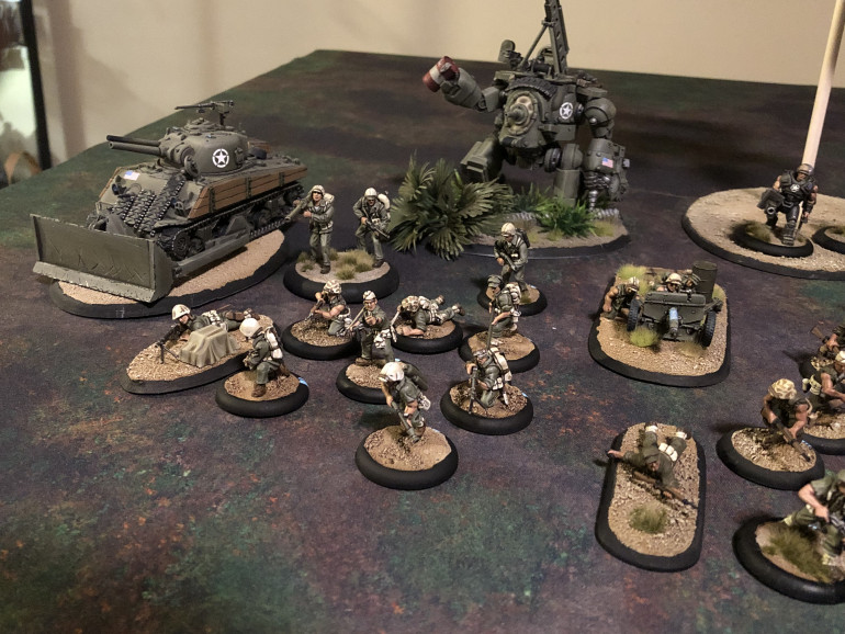 A fully painted army