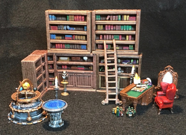 This actually the Wizard's Study and the Library sets as they look so good together