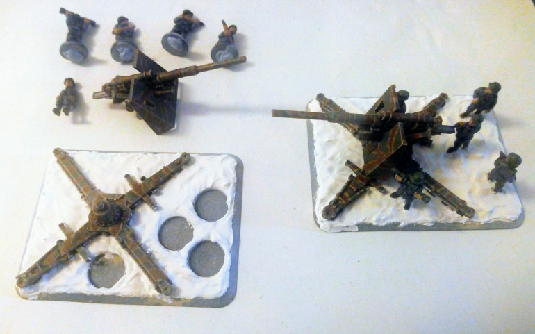 A bit of basing for the artillery